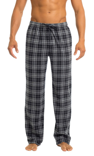 Men's Microfleece Pants | Black Check