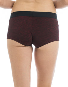 Women's Boyshorts Underwear | Space Dye Red