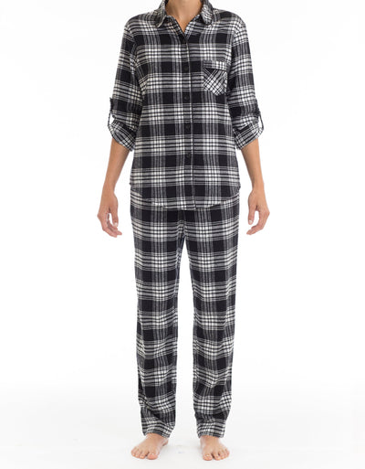 Black Tie Flannel PJ Set - Joe Boxer