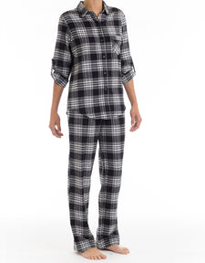 Black Tie Flannel PJ Set