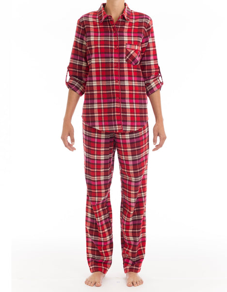 Ruby Rose Flannel Pyjama Set