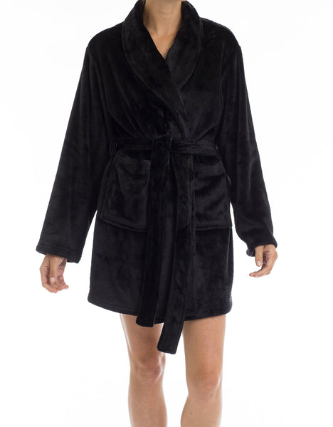 Black Fleece Robe