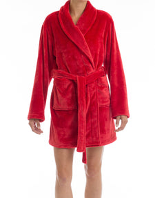Red Fleece Robe