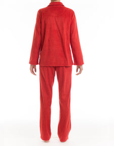 Classic Red Microfleece Pyjama Set