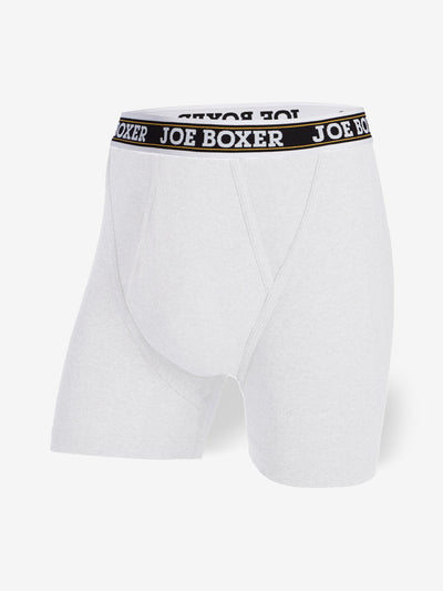 EVERYDAY VALUE -Men's Boxer Briefs | White 6-Pack Classic Fitted - Joe Boxer