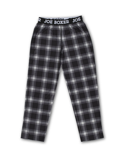 Boys Sleep Pants | Black Check - Joe Boxer