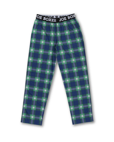 Boys Sleep Pants | Blue Check - Joe Boxer