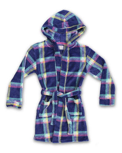 EVERY DAY VALUE - Girls Robes | Blue Bell Check - Joe Boxer