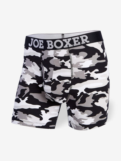JUNK DRAWER BOXER BRIEF | BLACK CAMO - Joe Boxer