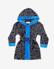Blue Trim Hooded Robe