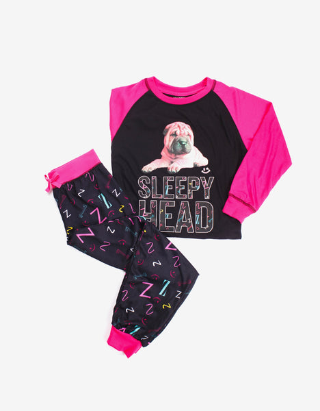 Sleepy Head Tee and Pant Set