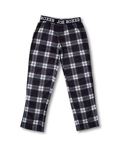 Boys Sleep Pants | Black Check Tartan - Joe Boxer