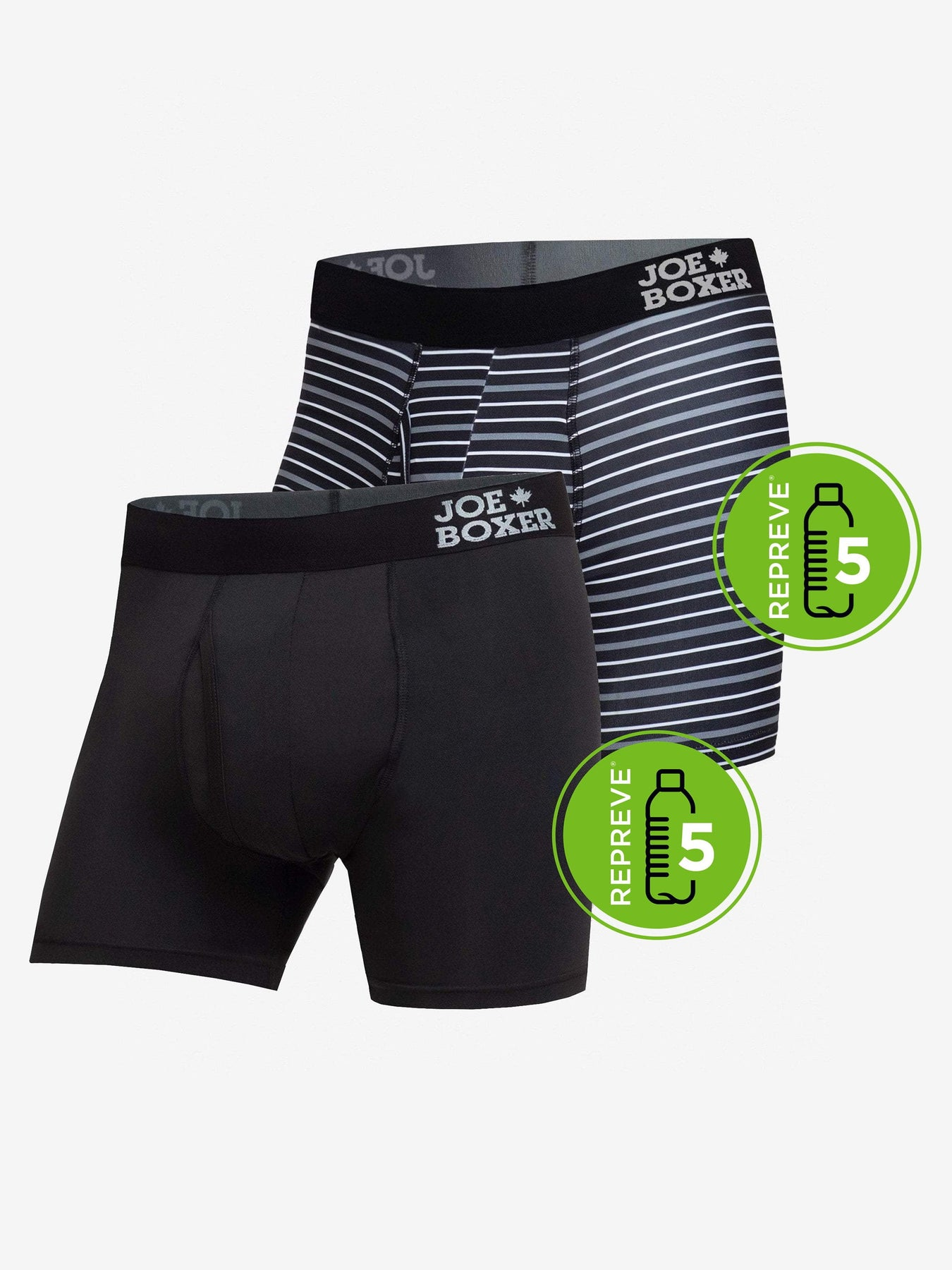 Joe Boxer Mens Decompress 2 Pack Fitted Boxer