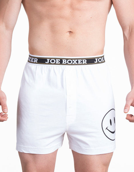 Signature - Smiley - Boxer - White
