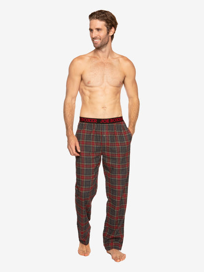 CLASSIC LOUNGE - FLANNEL PANT | GREY & RED PLAID