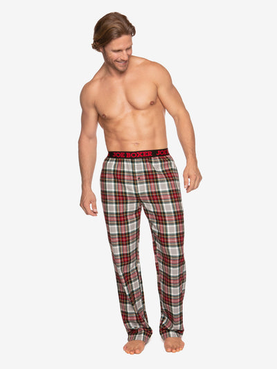CLASSIC LOUNGE - FLANNEL PANT | RED & WHITE PLAID