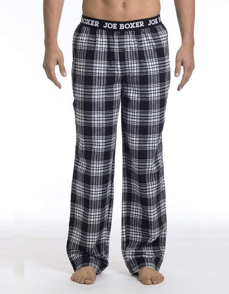 Black & White Plaid Flannel Pant