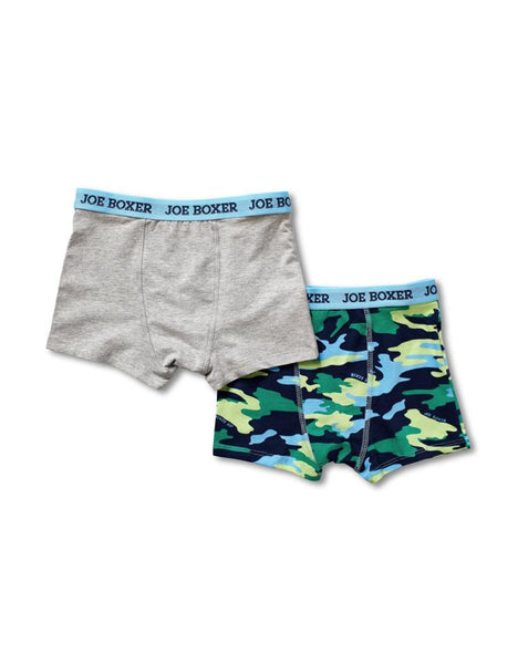 EVERY DAY VALUE - 2-Pack Blue Camo Boys Boxer Briefs