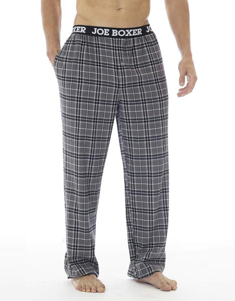 Grey Plaid Flannel Pant