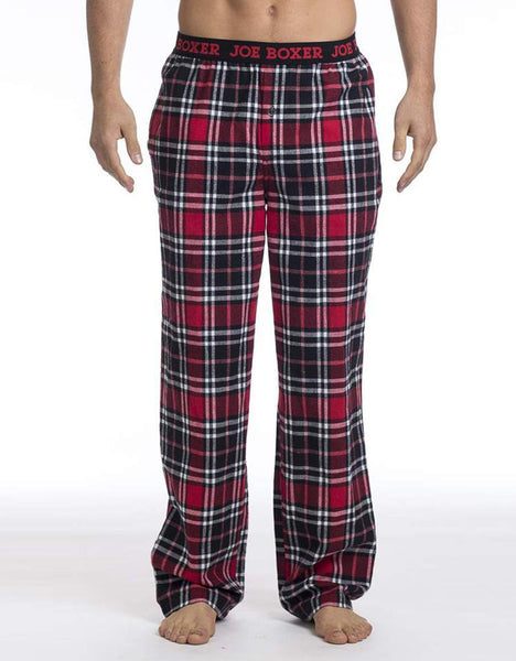 Red & Black Plaid Flannel Pant