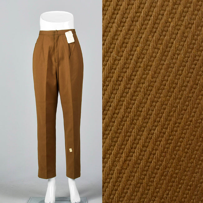 1960s Brown Twill Pants