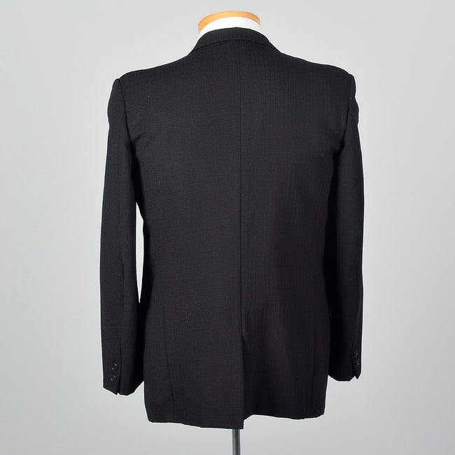 1950s Mens Black on Black Jacket