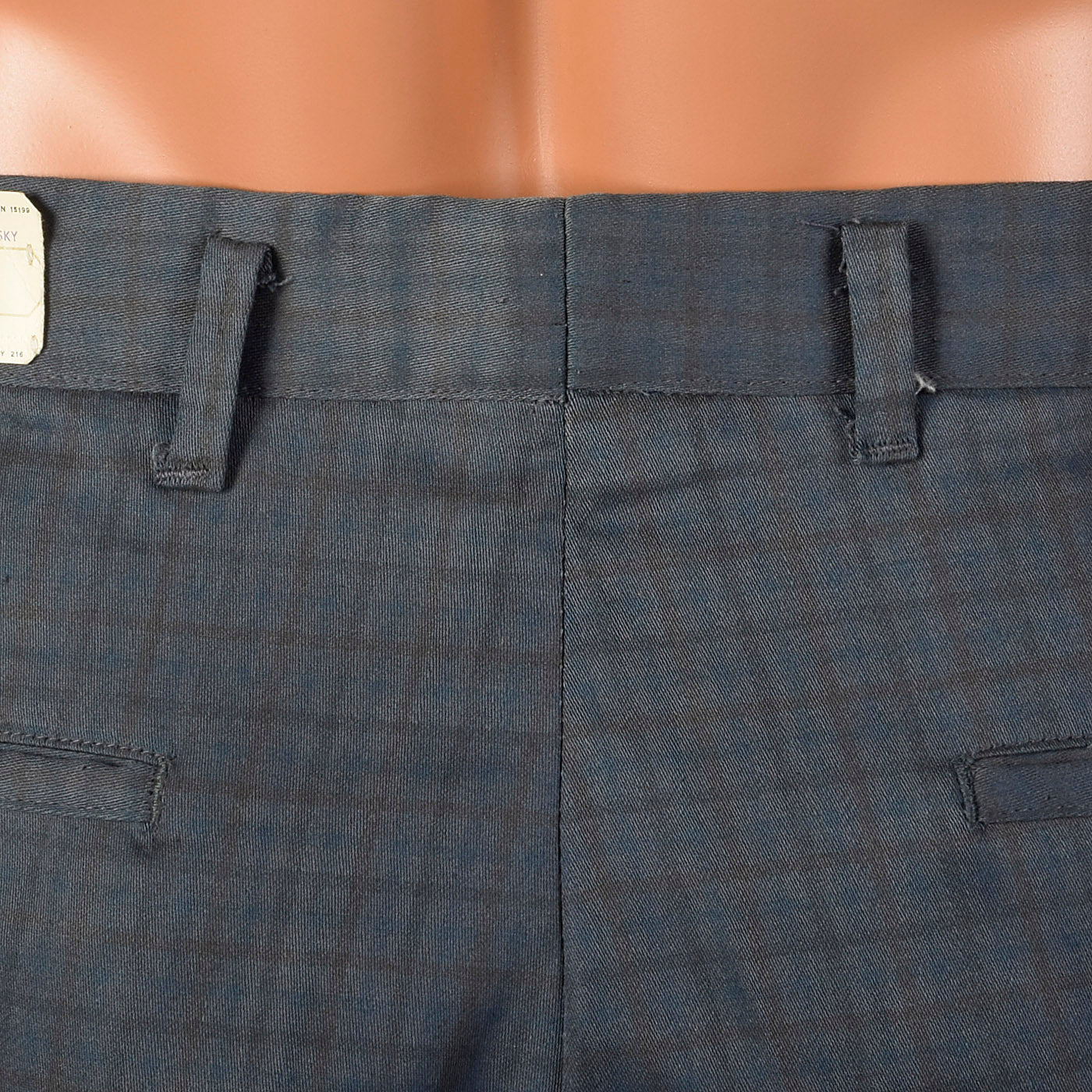 1970s Deadstock Grey Plaid Pants