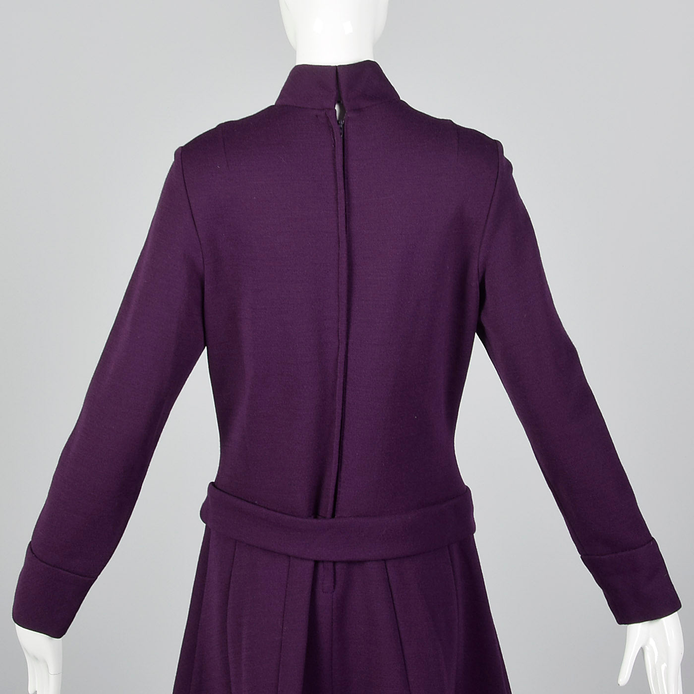 1960s Purple Knit Dress with Dropped Waist