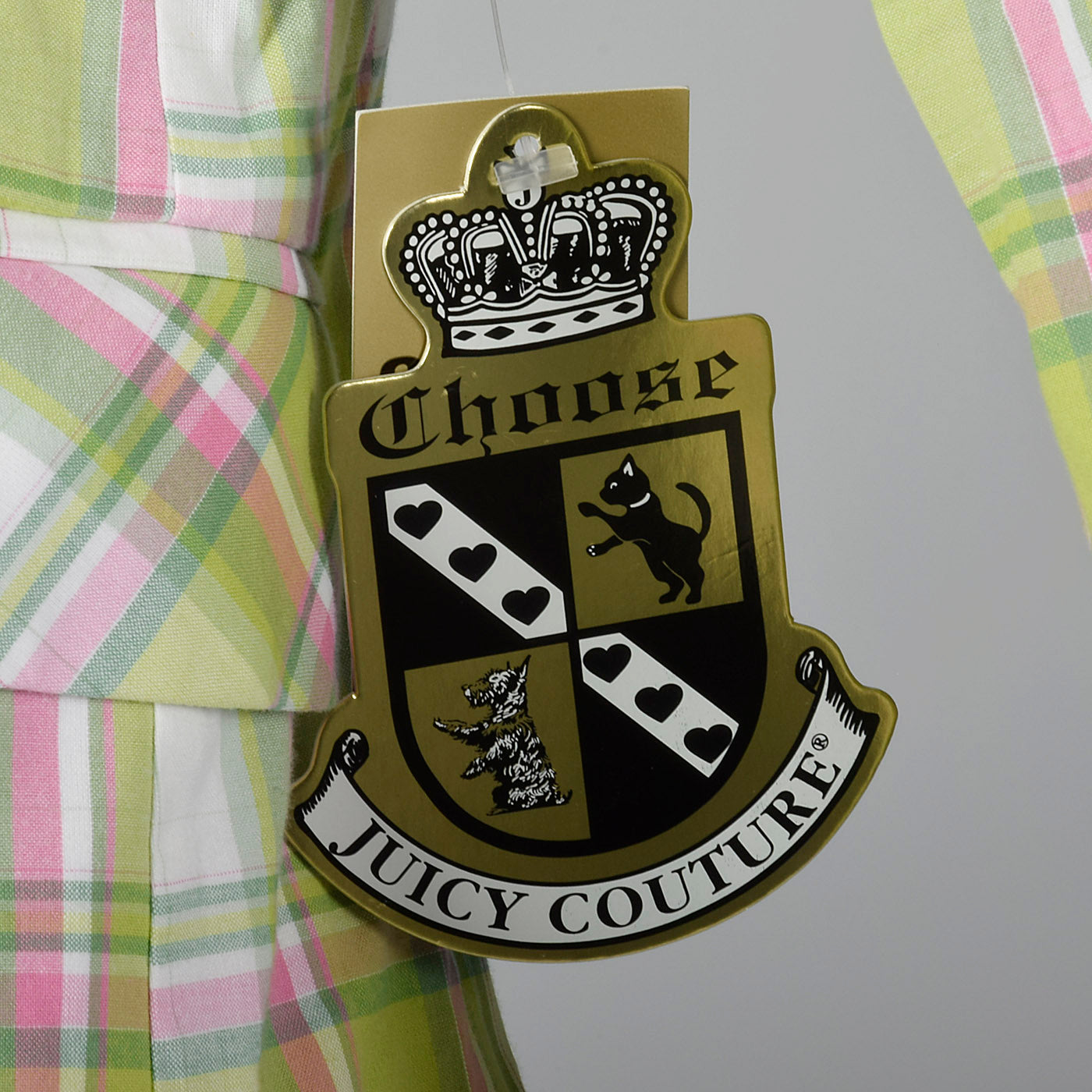 2000s Deadstock Juicy Couture Plaid Blazer