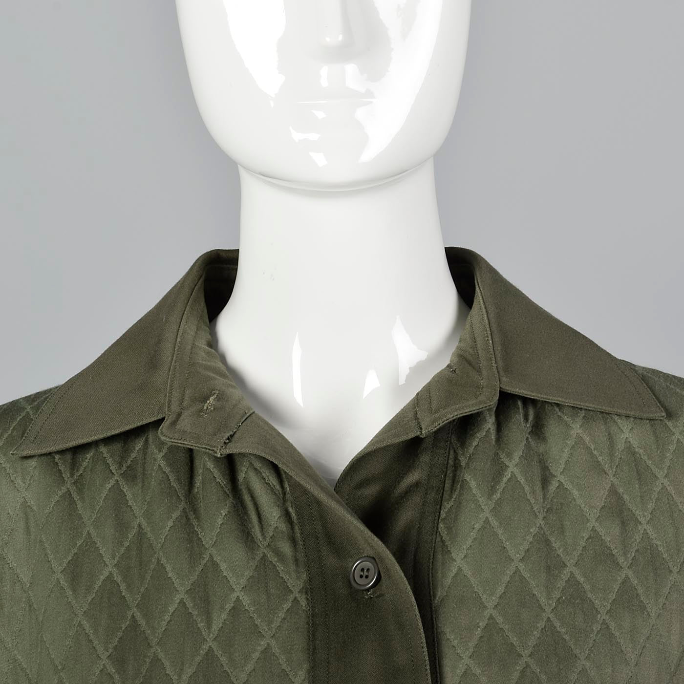 1976 Yves Saint Laurent Russian Collection Loose Green Quilted Jacket