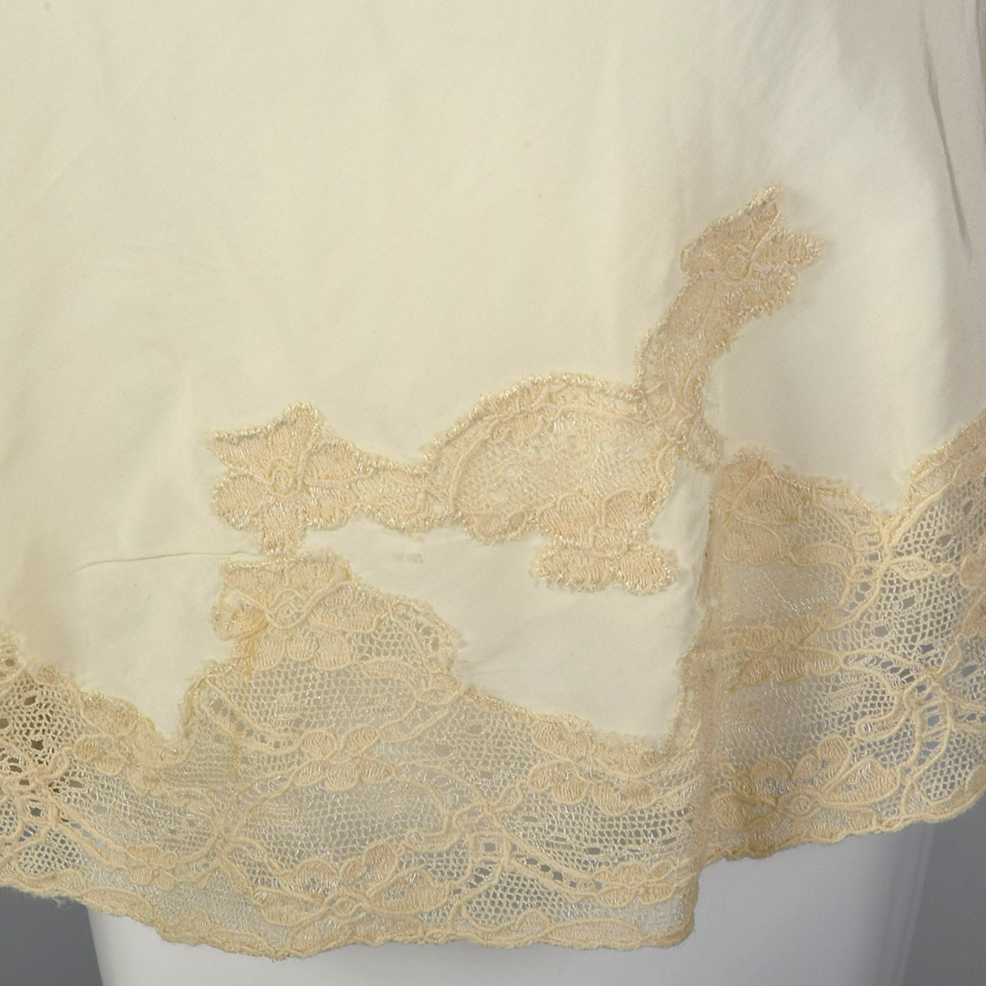 1940s Cream Tap Pants with Lace Trim