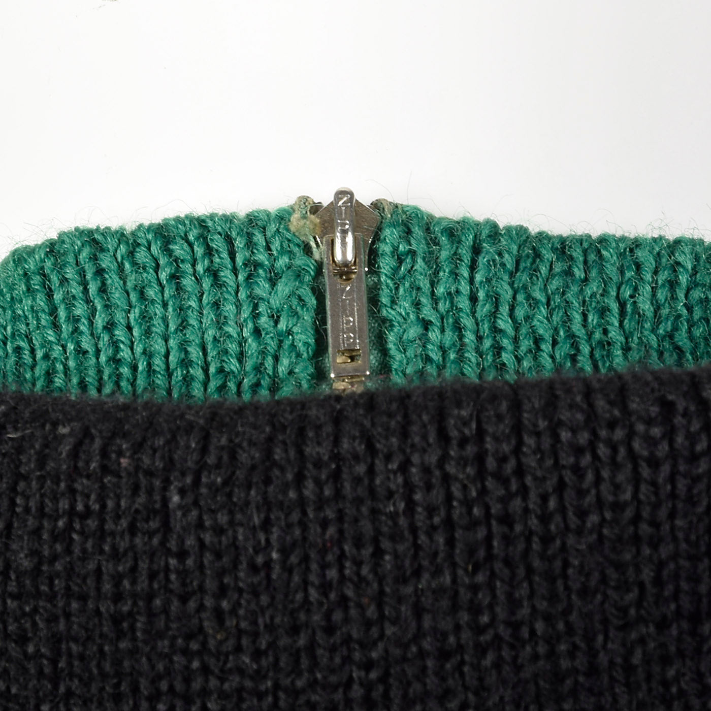 1950s Black Wool Ski Sweater with Wind Collar
