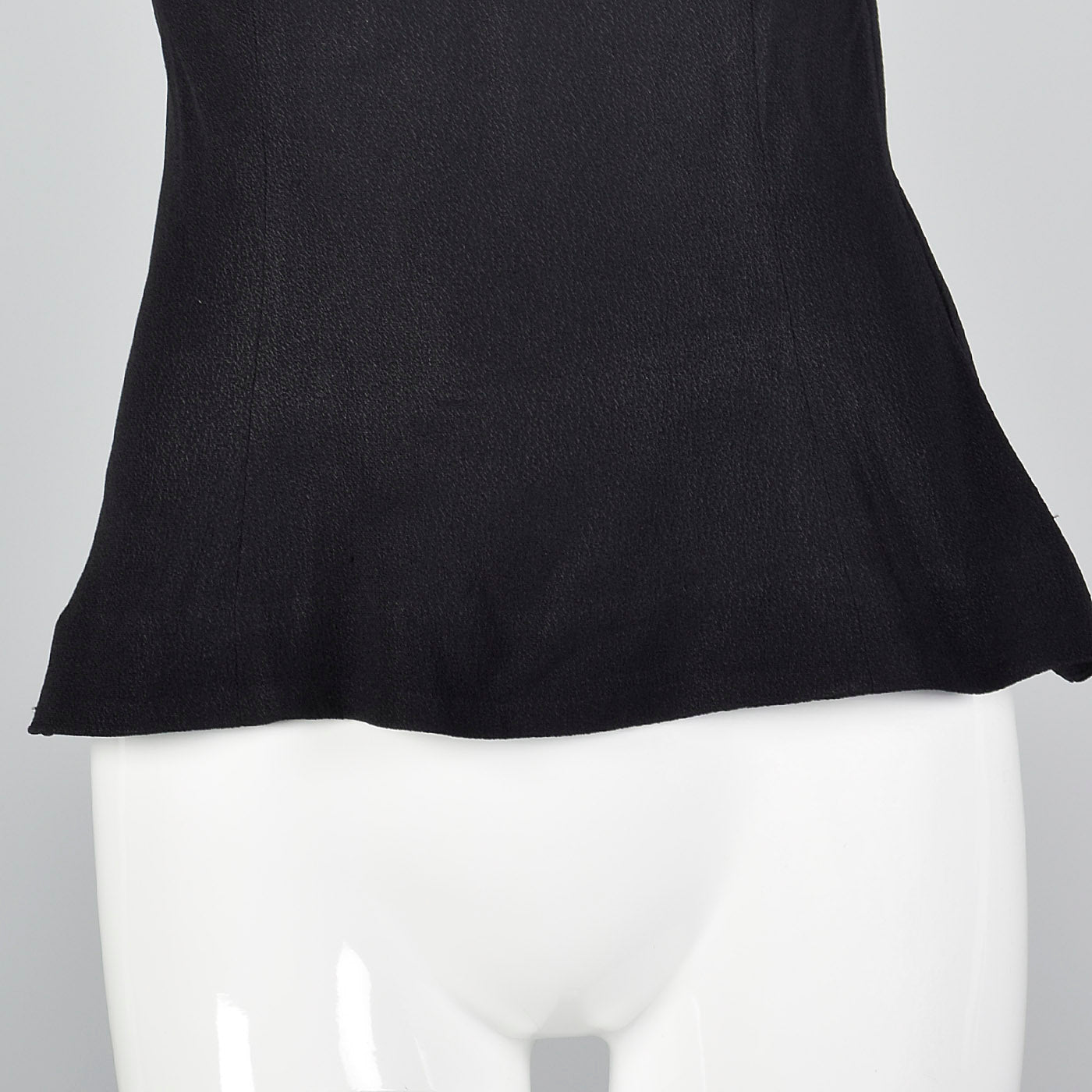 1950s Black Top with Sheer Collar