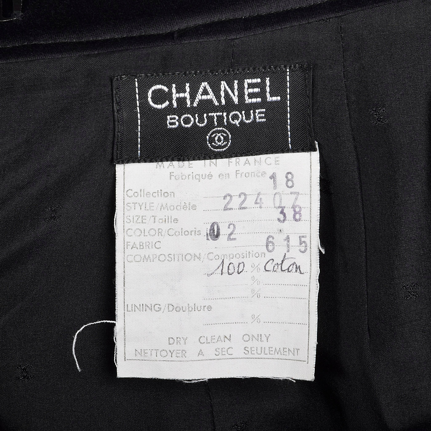 1980s Chanel Black Cotton Summer Skirt Suit with Gold Buckle Detail