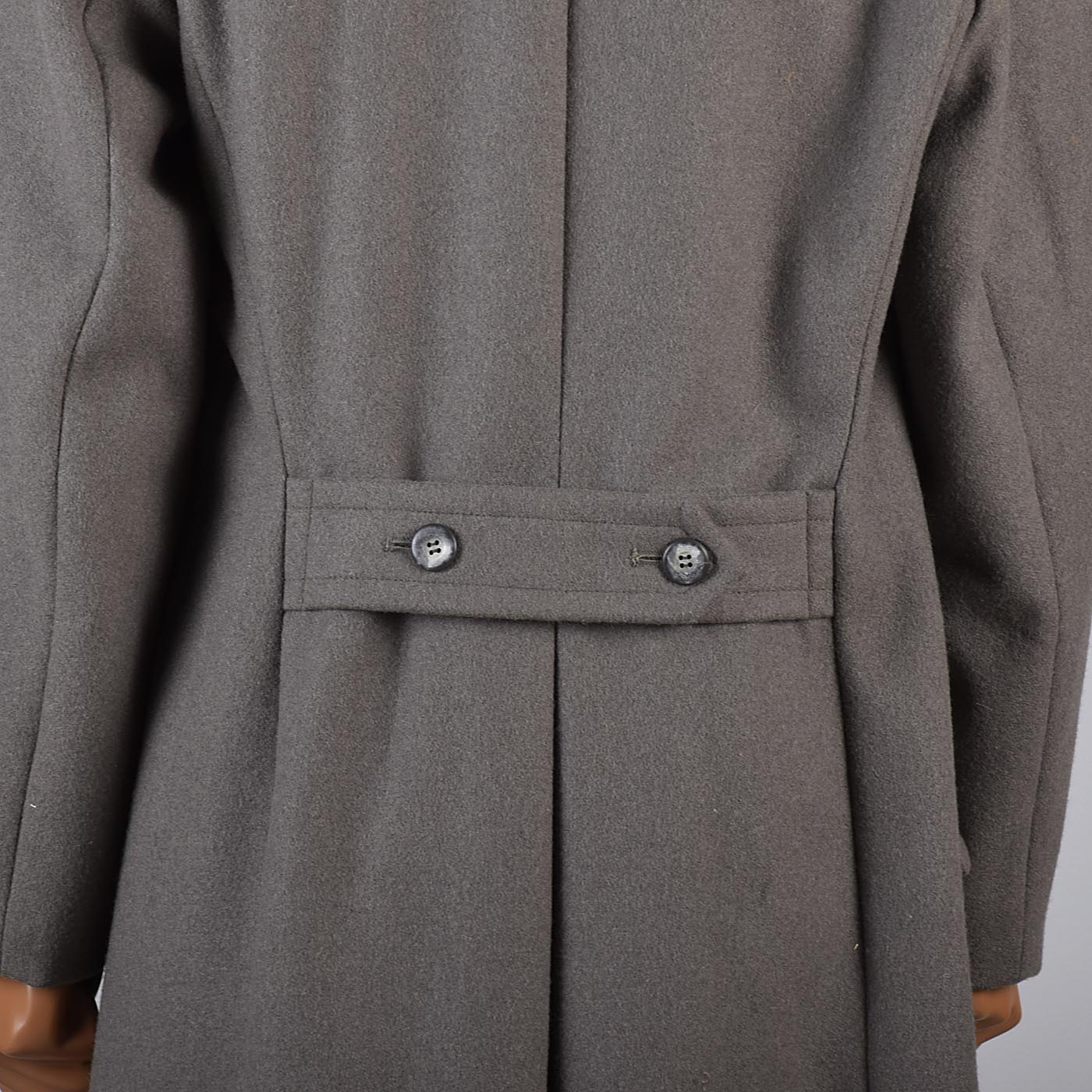 1970s Mens Two Tone Military Style Coat