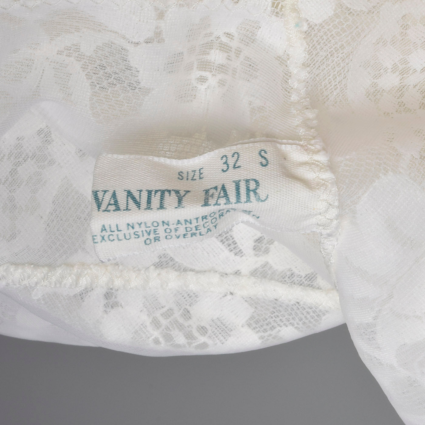 1970s Vanity Fair White Slip