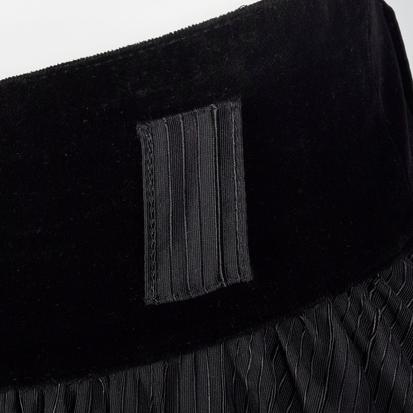 1980s Black Full Circle Skirt
