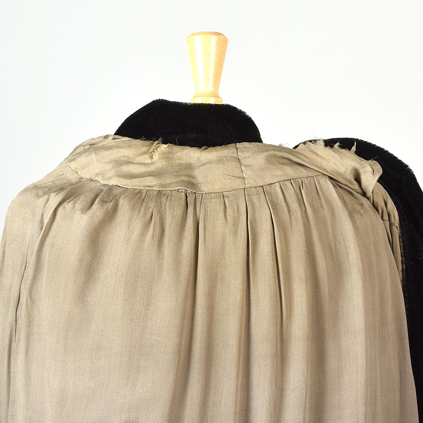 1920s Mohair Velvet Cape with Decorative Buckle