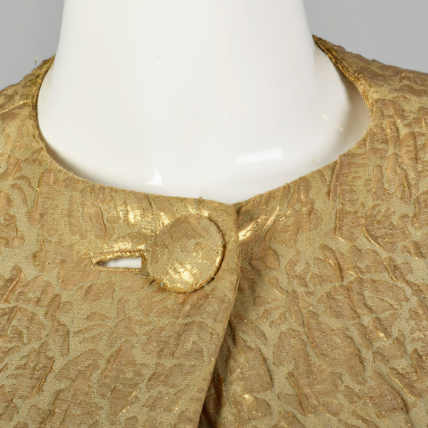 1960s Metallic Gold Cape