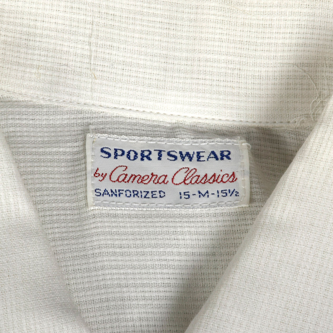 1950s Deadstock White Sanforized Cotton Shirt