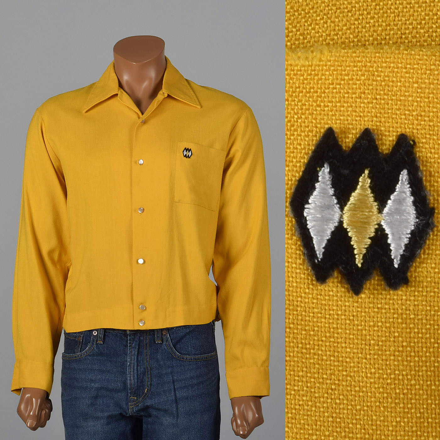 1950s Gold Long Sleeve Shirt