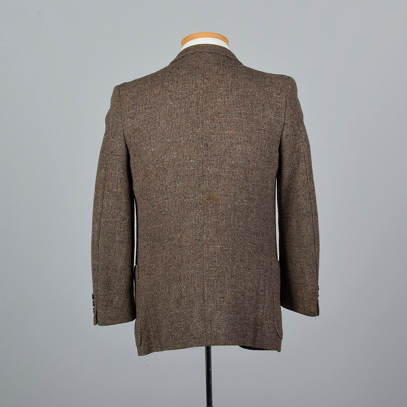 1970s Mens Yves Saint Laurent Chunky Tweed Jacket