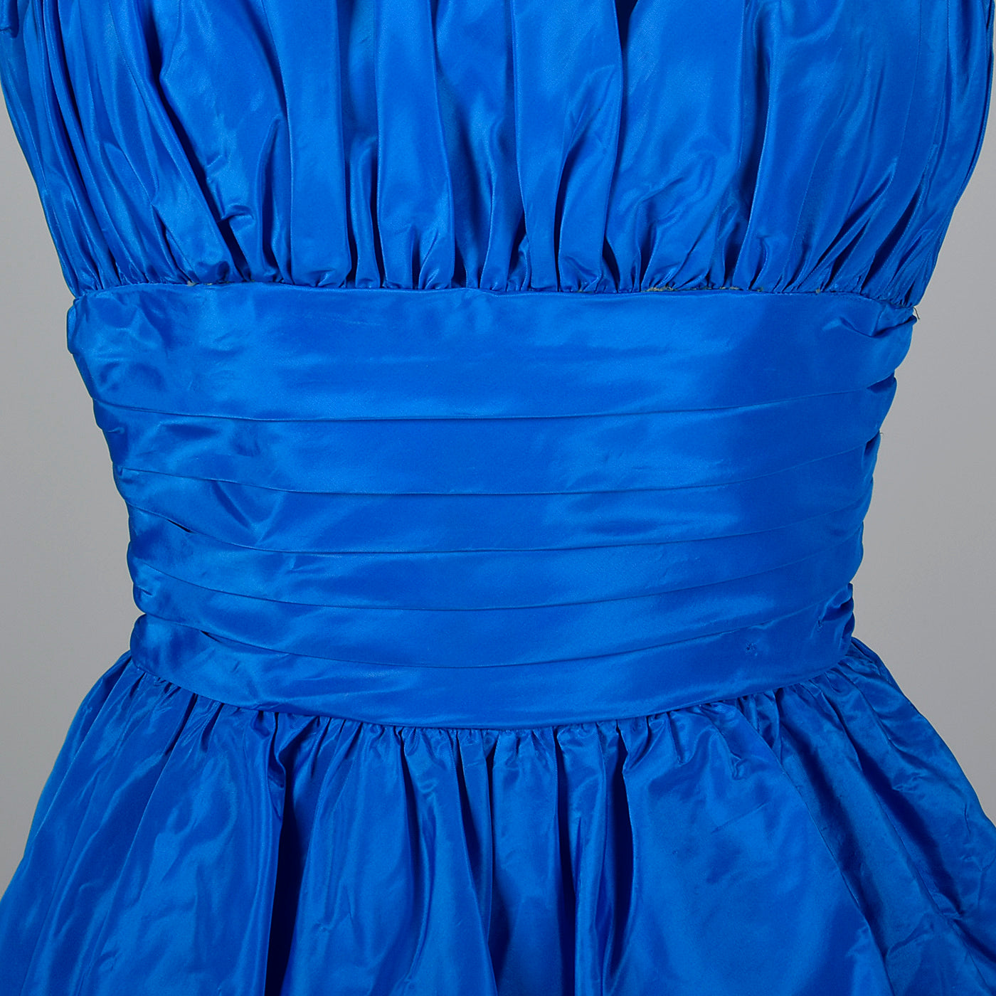 1950s Electric Blue Party Dress with Bubble Skirt