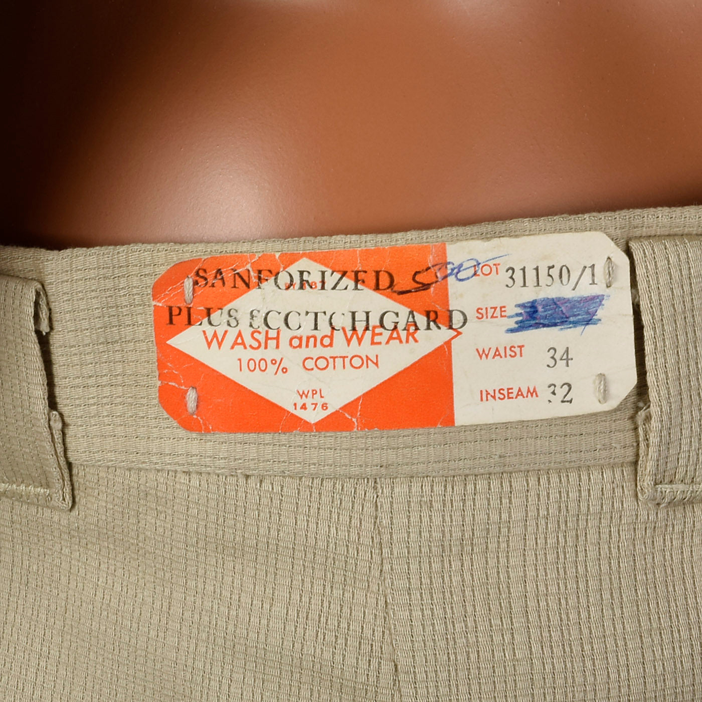 1950s Deadstock Tan Pants