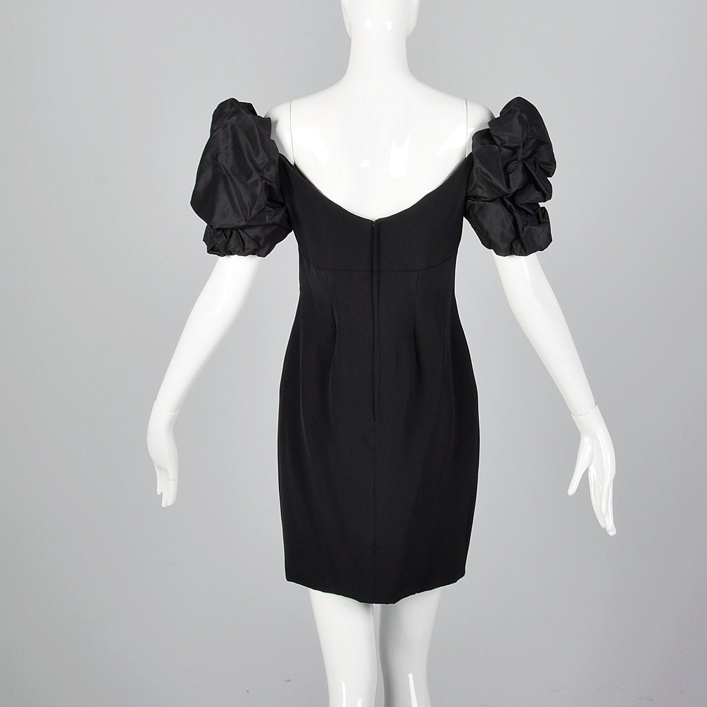 1980s Vicky Tiel Off Shoulder Mini Dress