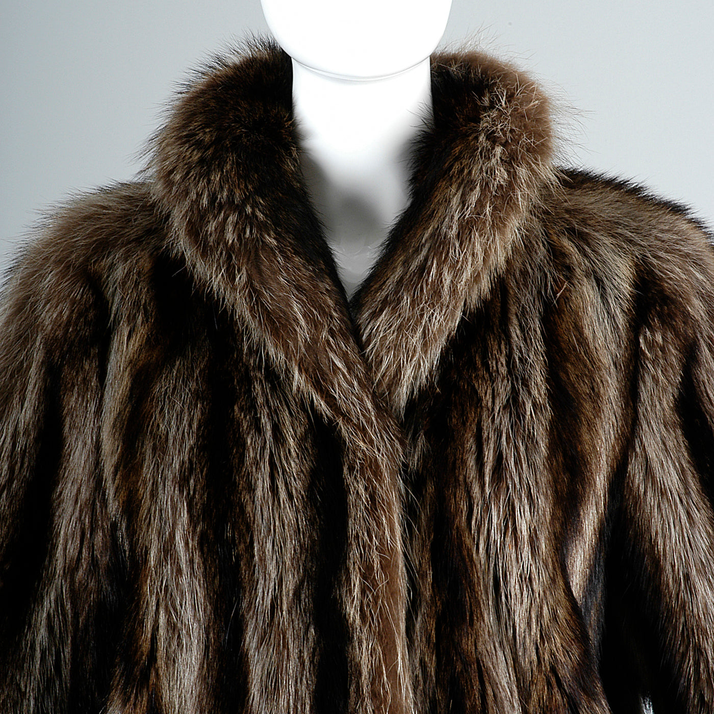 Full Length Saks Fifth Avenue Raccoon Fur Stroller Coat Revillon Winter Column