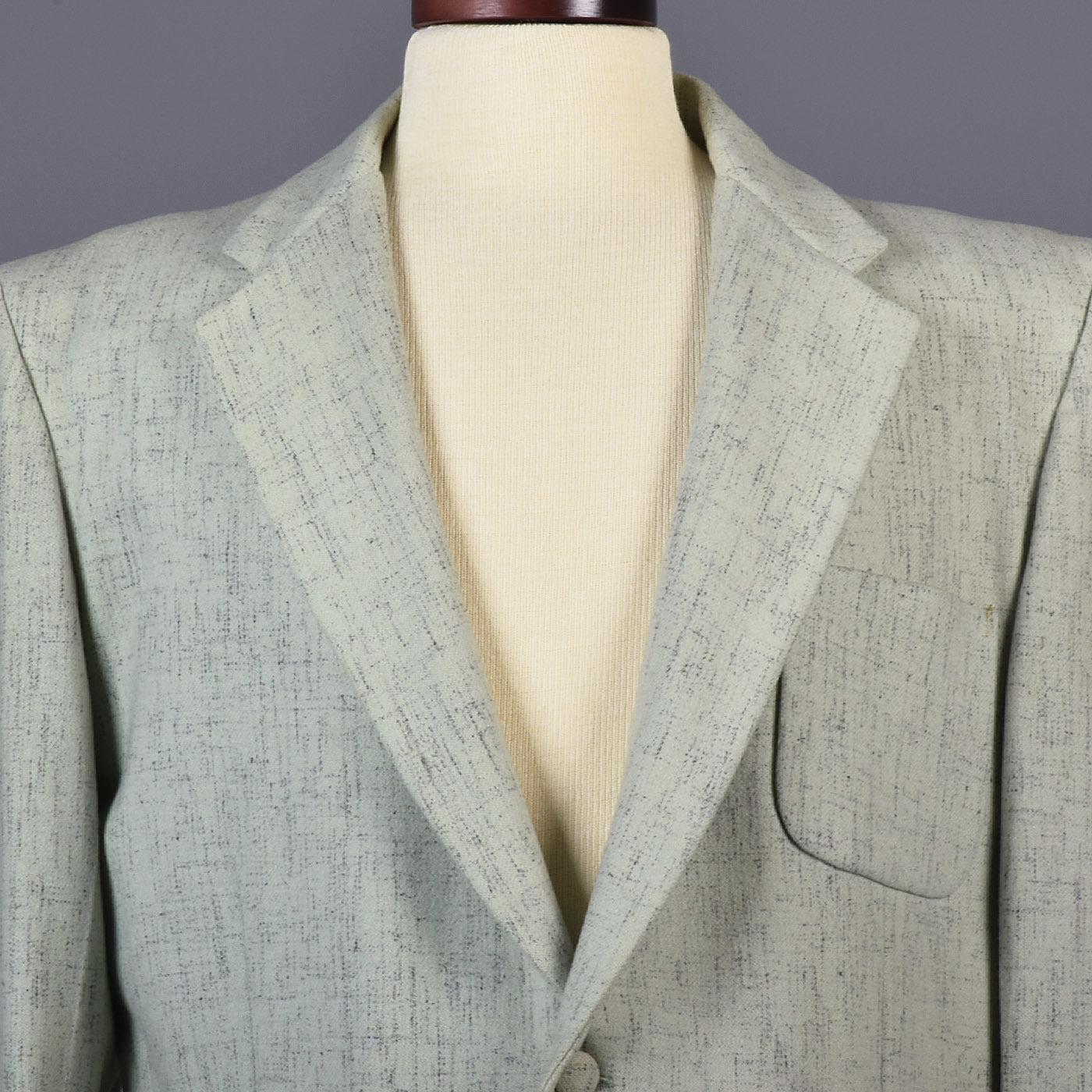 1950s Men's Mint Green Atomic Fleck Jacket