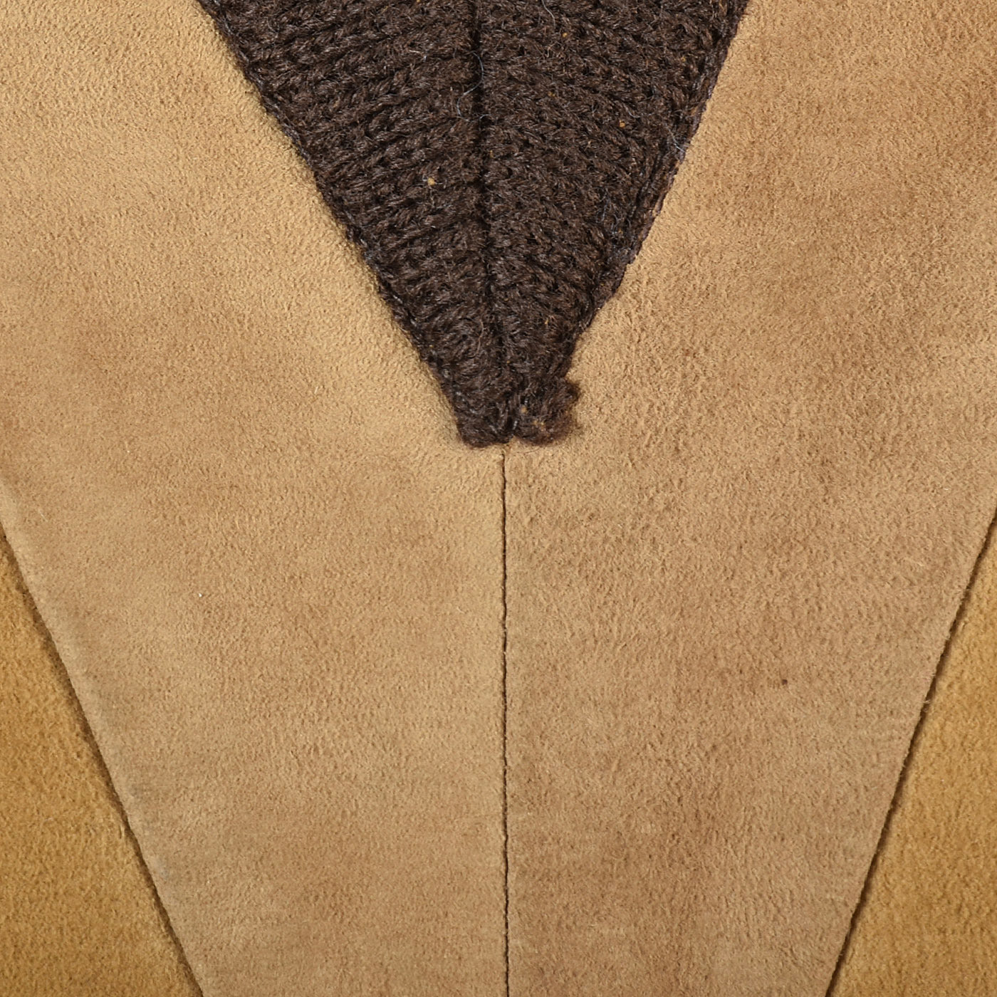 1960s Men's Suede Leather & Wool Knit Pullover Sweater