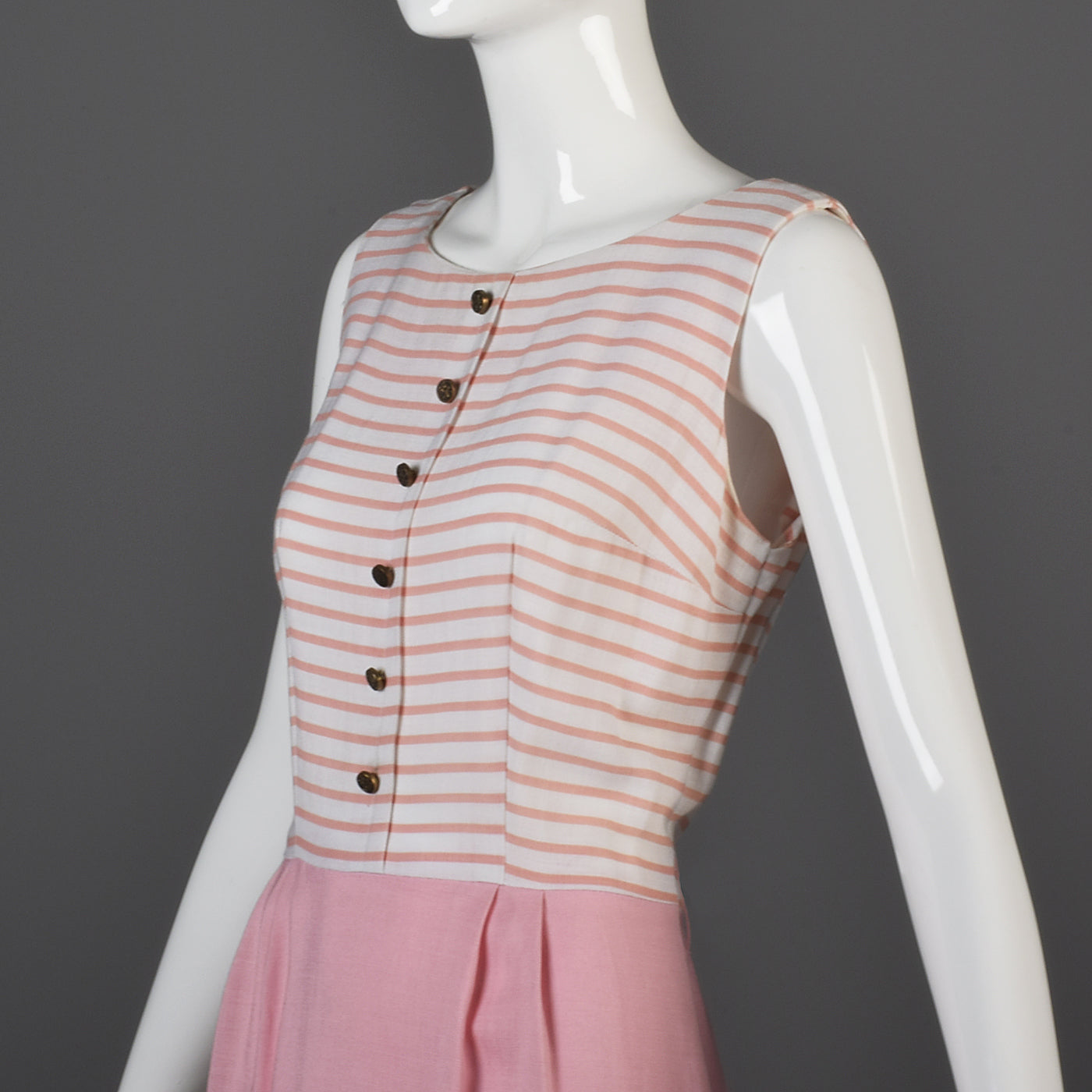 1960s Pink Stripe Dress and Jacket Set