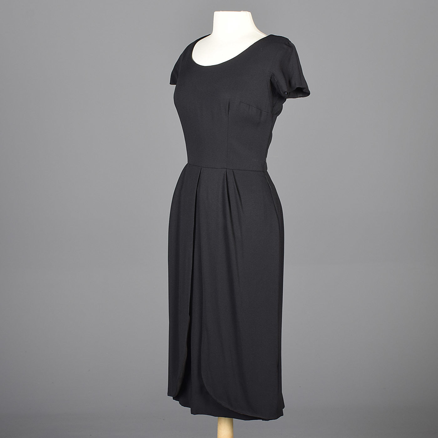 1960s Little Black Dress with Petal Skirt